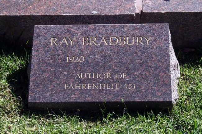Bradbury, author of Fahrenheit 451