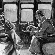 Illustration for Arthur Conan Doyle's book about Sherlock Holmes