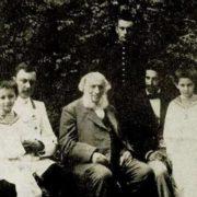 Ivan Aivazovsky with his grandchildren