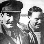 Joseph Stalin and Valery Chkalov
