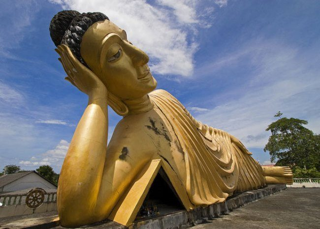 Lying Buddha in Phuket, Thailand