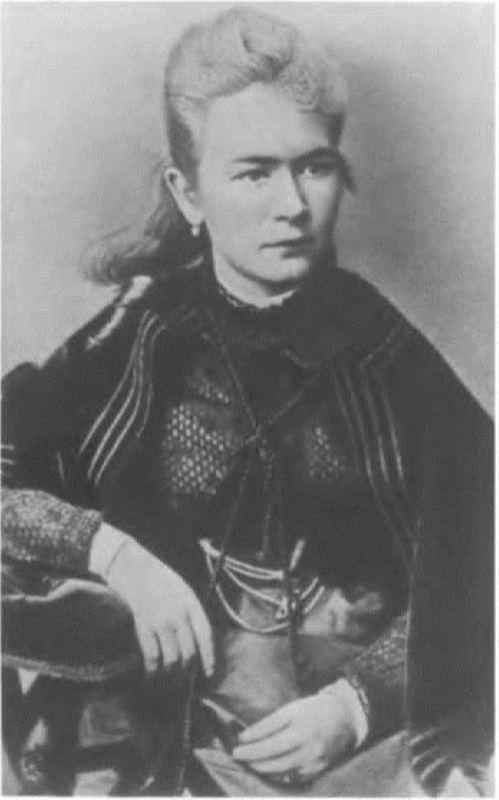 Lyubov Petrovna Scriabina, the mother of the composer