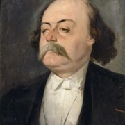 Portrait of Gustave Flaubert by Pierre Francois Eugene Giraud. 1856