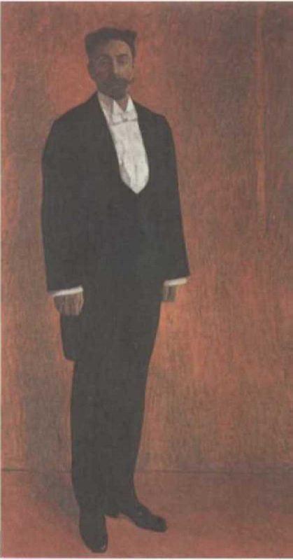 Portrait of Scriabin by A. Golovin