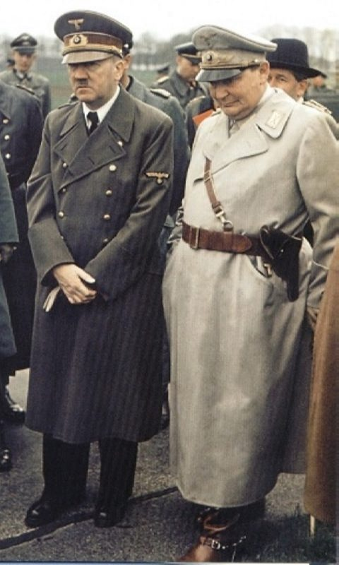 Prime minister of Prussia Hermann Goering and Hitler