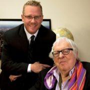 Ray Bradbury and his biographer Sam Weller