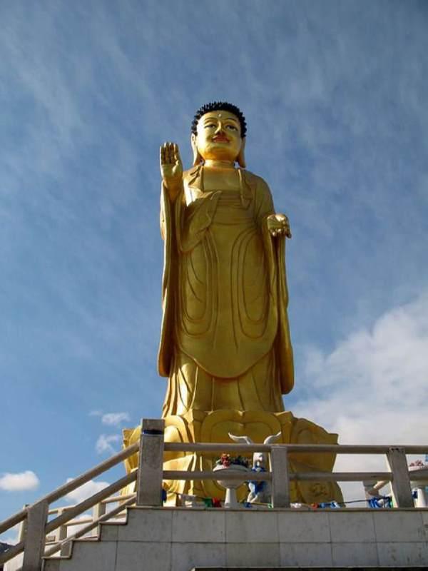 Statue of Young Buddha in Ulaanbaatar, Mongolia