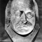 The death mask of Gustave Flaubert
