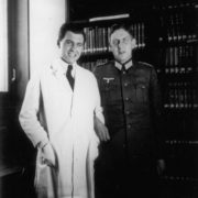 Josef Mengele with a colleague at the Institute of Anthropology, Human Genetics and Eugenics. The end of the 1930s.