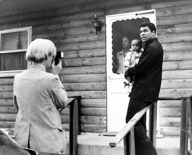 Mohammed Ali and Andy Warhol