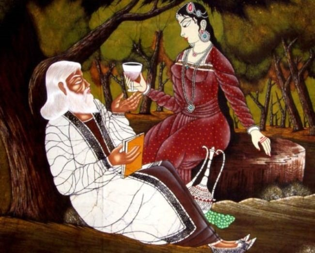 Awesome illustration to Khayyam's Rubaiyat