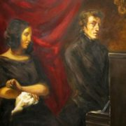 E. Delacroix. George Sand and Frederic Chopin