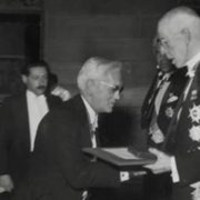 Fleming receives the Nobel Prize. 1945