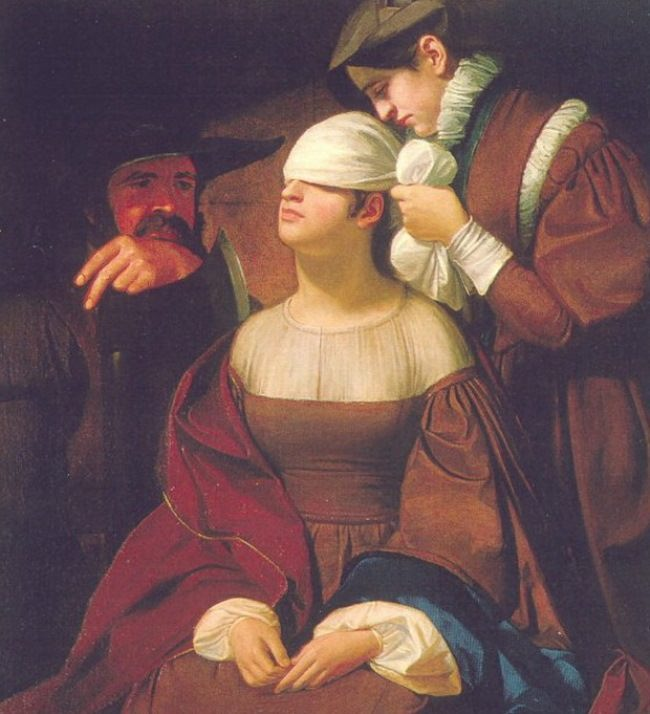 George Whiting Flagg. Lady Jane Grey Preparing for Execution. 1835