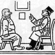 Lieutenant Lukasz and Schweik. Illustration by Josef Lada