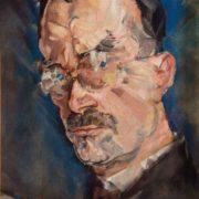 Max Oppenheimer. Portrait of Thomas Mann