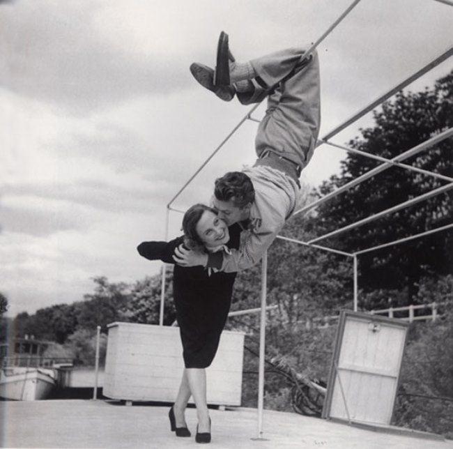 Michelle Morgan and Jean Marais