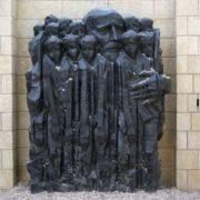 Monument to Janusz Korczak with children in Jerusalem