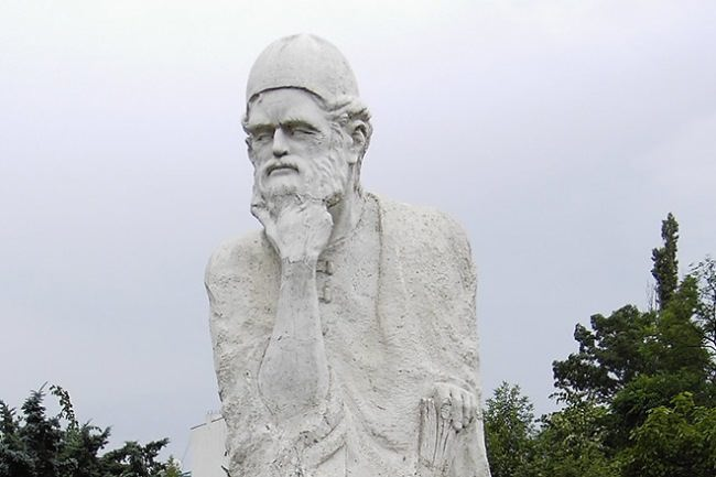 Monument to Omar Khayyam in Bucharest, Romania