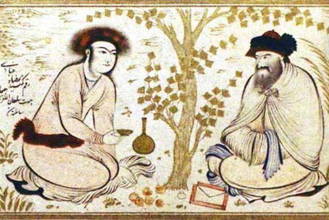 Persian miniature of the XVII century