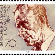 Post stamp dedicated to Thomas Mann