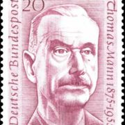 Post stamp dedicated to great Thomas Mann