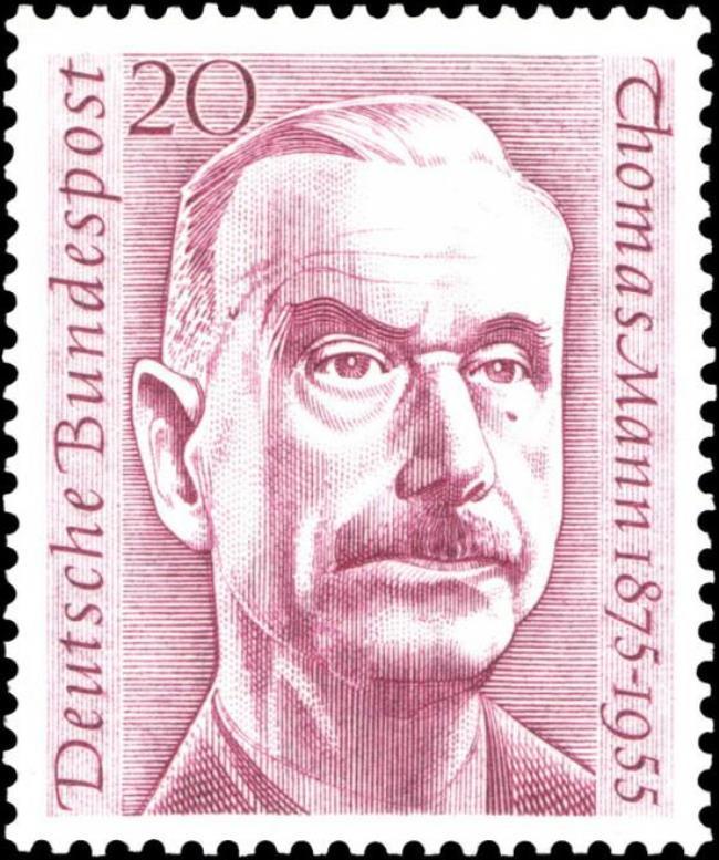 Post stamp dedicated to great Thomas Mann