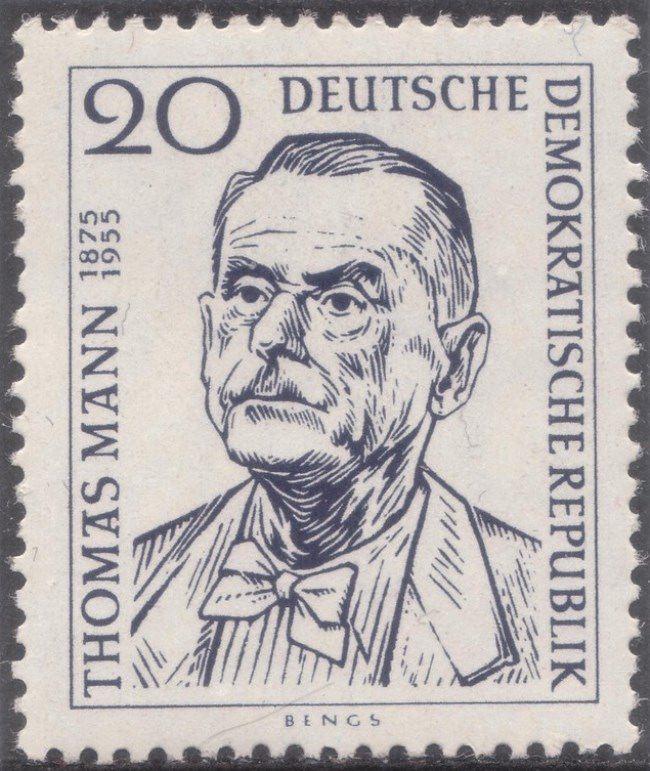 Post stamp dedicated to legendary Thomas Mann