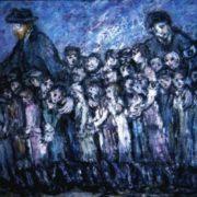 Renowned Janusz Korczak with children