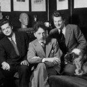 Serge Reggiani, Jean Cocteau and Jean Marais. 1941