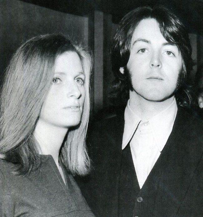 1969. Linda and Paul McCartney