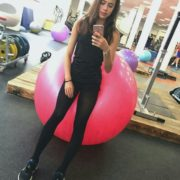 At the gym. Alina Zagitova