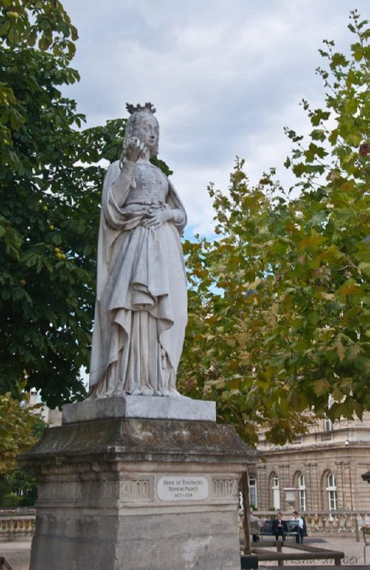 Monument to Anne of Brittany in the Luxembourg Garden