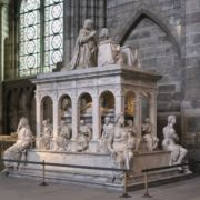 Tomb of Louis XII and Anne of Breton in the Basilica of Saint-Denis, France