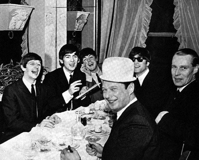 Charming Beatles and Brian Epstein