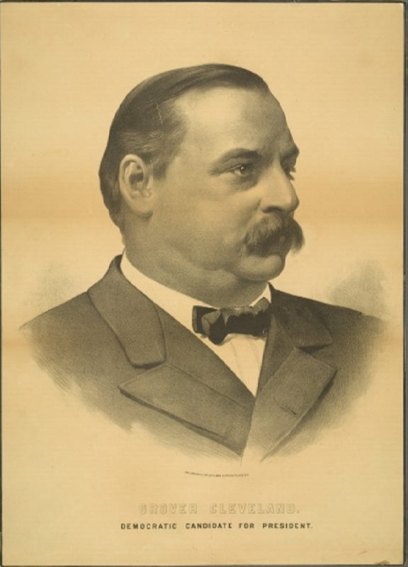 Democratic candidate for president - Grover Cleveland