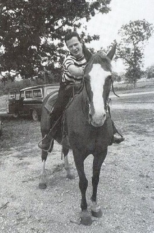 Epstein is riding a horse