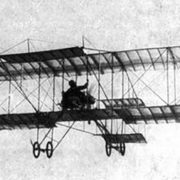 One of the first biplanes