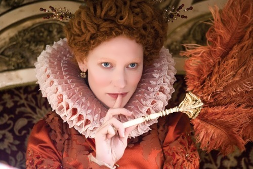 Actress Cate Blanchett in the role of Elizabeth I