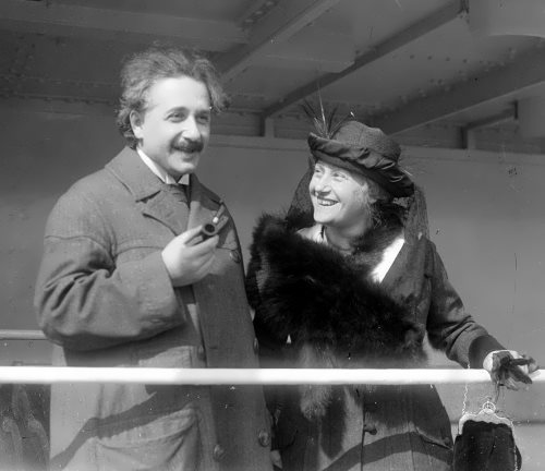 Happy couple - Albert and Elsa Einstein