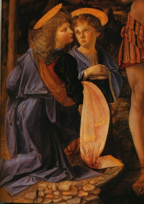 Detail of the painting The Baptism of Christ