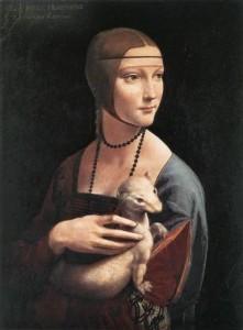 Lady with an Ermine. Portrait of Cecilia Gallerani. 1490