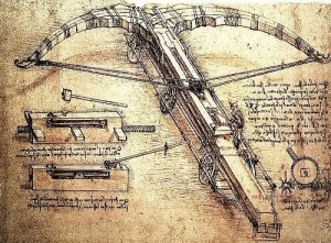 Implements of war created by Leonardo da Vinci