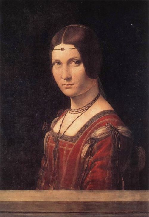 Portrait of Lucrezia Crivelli. 1490-1495