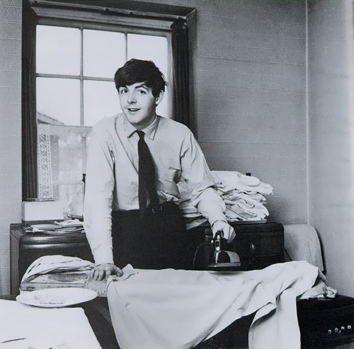 McCartney is ironing