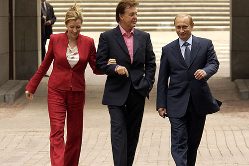 Paul McCartney, Heather and Vladimir Putin, 2003