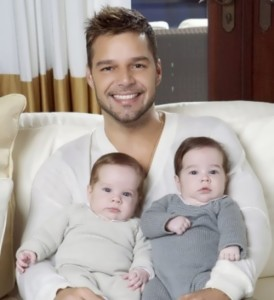 Ricky Martin and his children
