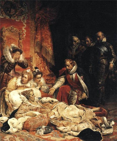 The Death of Elizabeth I Queen of England by Paul Delaroche