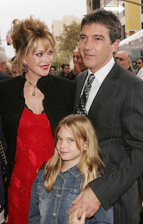 Antonio, Melanie Griffith and their daughter