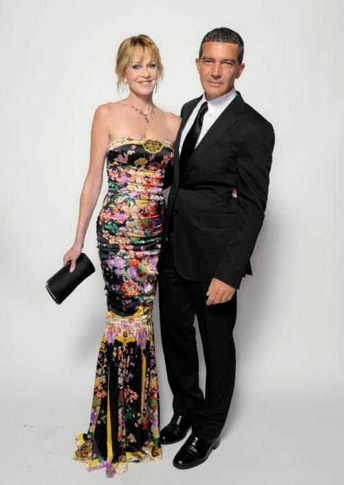 Antonio and Melanie Griffith